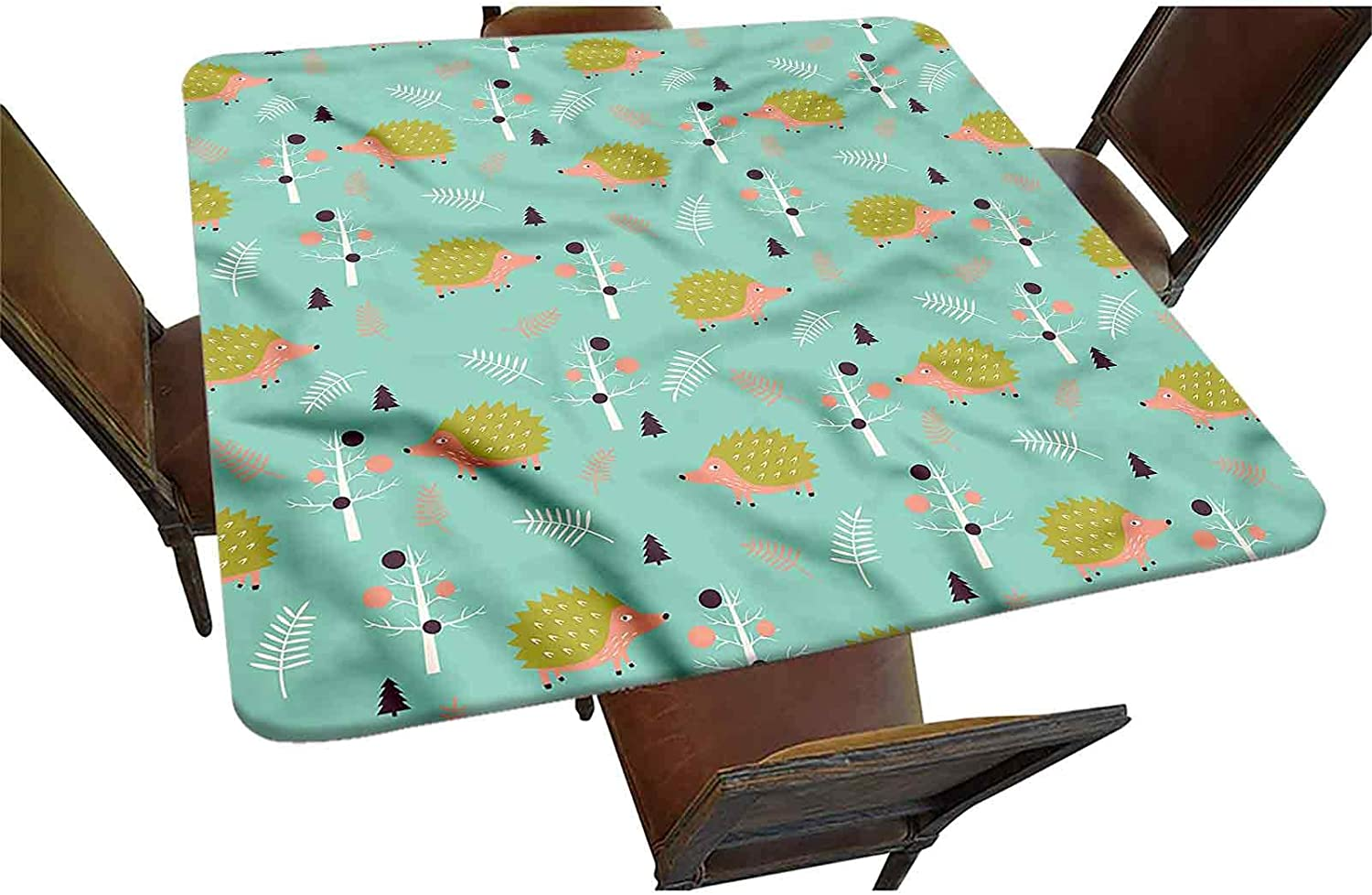 Decorative Elastic Edged Attention brand Square Fitted Countryside Tablecloth Li Ranking TOP3