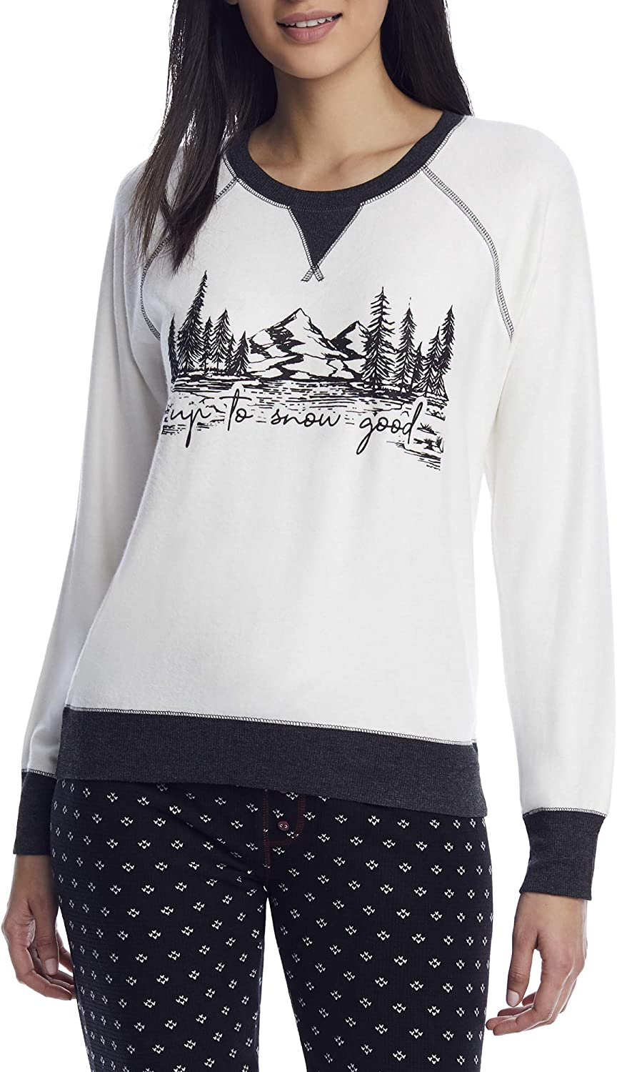 PJ Salvage Women's Loungewear Snow Max 65% OFF Dot Top Limited price sale Sleeve Long