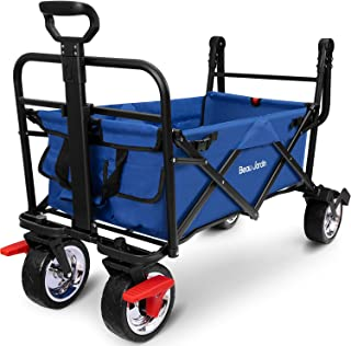 comprar comparacion BEAU JARDIN Carretillas de Carro Plegable con Freno con Carro Plegable de Mano Carro Transporte para jardín Carro para Pla...
