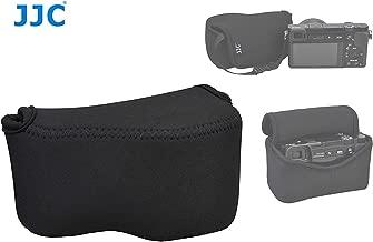 JJC Black Ultra Light Neoprene Camera Case for Sony a6500 a6400 a6300 a6000 a5100 w/ 16-50mm Lens, Case for Sony RX1 RX1R RX1R II, Panasonic LX100 LX100 II, Canon X420IS SX510 HS G1X III