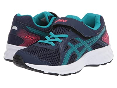 ASICS Kids Jolt 2 (Toddler/Little Kid) (Peacoat/Lagoon) Girls Shoes