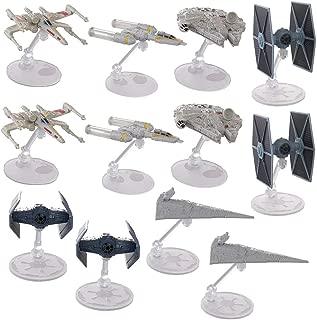 Hot Wheels (Set Of 12) Star Wars Starships Millennium Falcon X Wing Y Wing Tie Fighter Darth Vader Tie Advanced Star Destroyer