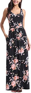 Zattcas Women Floral Maxi Dresses Sleeveless Casual...