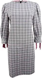 Jessica Howard womens Balloon Sleeve Shift Dress with Tie Cuffs Casual Dress