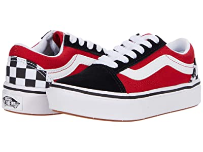 Vans Kids ComfyCush Old Skool (Little Kid) ((Checkerboard) Black/Red) Boys Shoes