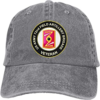 U.S. Army 72nd Field Artillery Brigade Veteran Adjustable Sport Jeans Baseball Golf Cap Hat Unisex Style