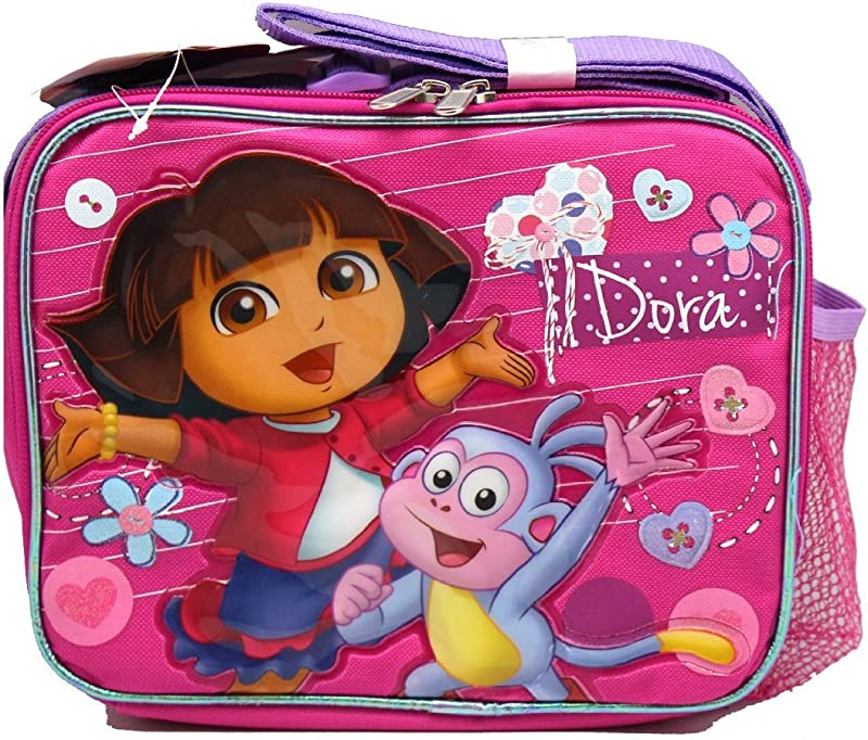 Pink Dora The Explorer And Boots Lunch Bag By Nickelodeon