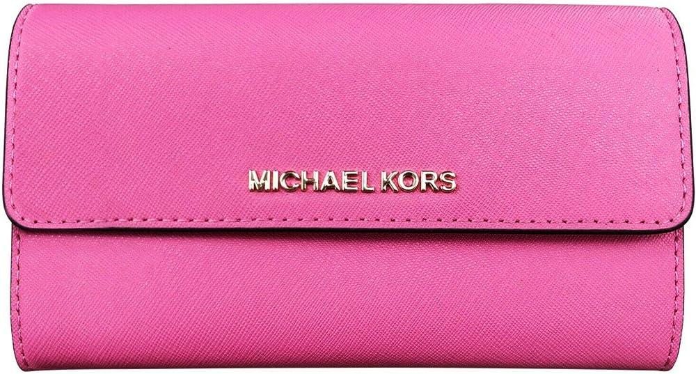 Michael kors jet set - portafoglio grande da donna porta carte di credito in pelle 35S9GTVF7L