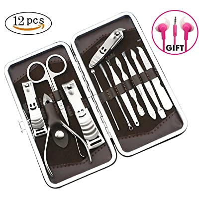 Nail Clipper Travel Set,Professional Stainless ...
