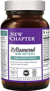 New Chapter Mini Softgels for Herbal Pain Relief - Zyflamend Whole Body Mini Softgels for Healthy Inflammation Response - ...