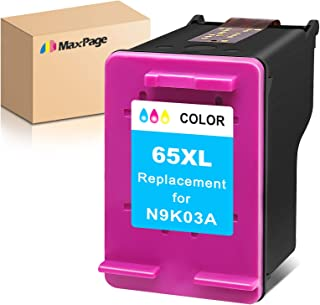 MaxPage Remanufactured Ink Cartridge Replacement for HP 65XL 65 XL Tri-Color to Use with Envy 5052 5055 5012 5010 5020 503...