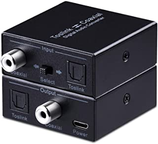 Optical to Coax, Tendak Optical SPDIF Toslink to Coaxial and Coaxial to Optical SPDIF Toslink Bi-Directional Swtich Digita...