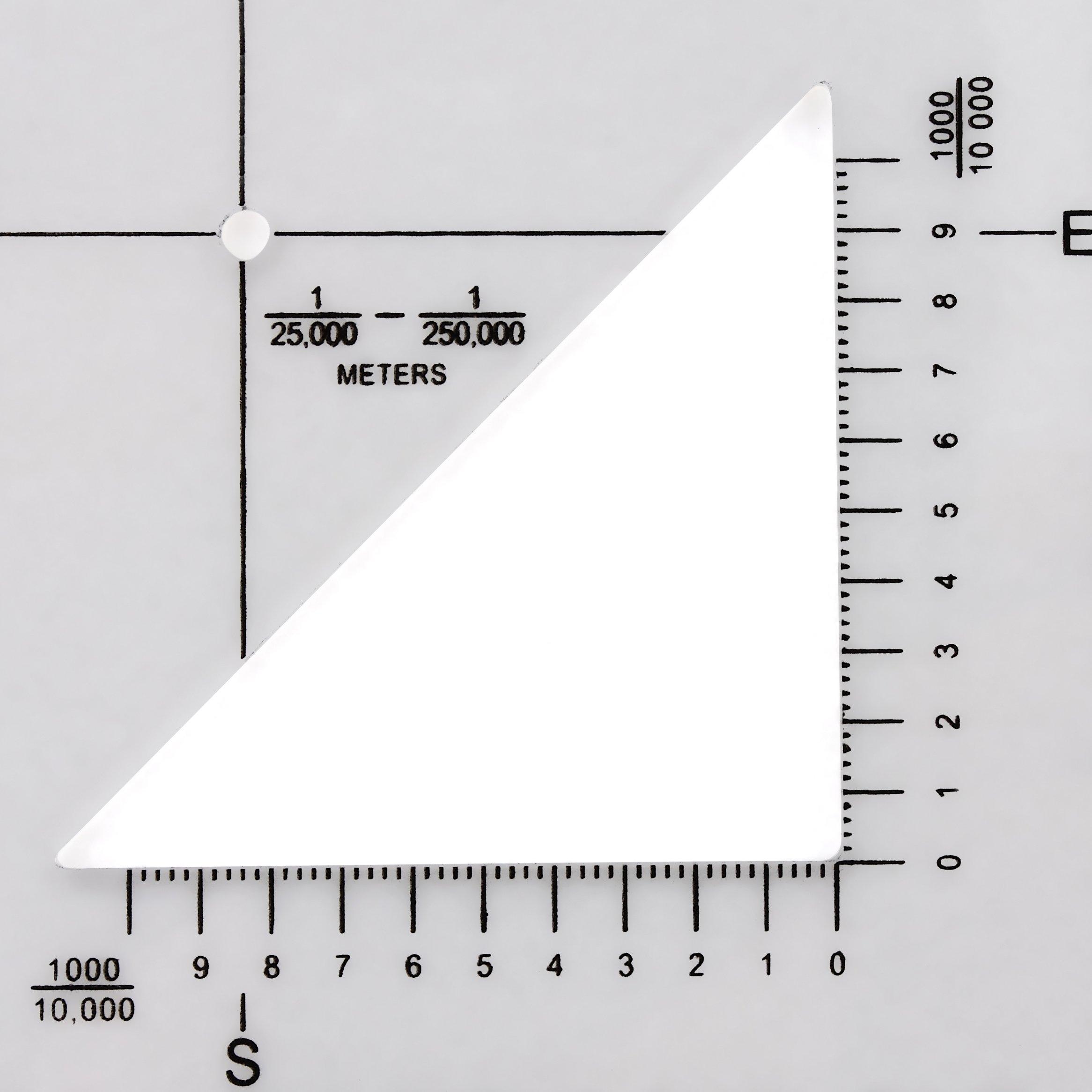 Militar UTM/Mgrs coordinar escala – mapa leer y tierra navegación – mapa topográfico escala, transportador de ángulos y rejilla coordinar lector – Pares con brújula y ritmo contador cuentas por Golden Eye