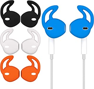 [4 Pairs] Silicone Ear Tips Soft Anti-Slip Sport Earbud Covers, Anti-Drop Ear Hook Gel Headphones Earphones Protective Acc...