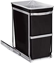 simplehuman 30 Liter / 8 Gallon Under Counter Kitchen Pull-Out Trash Can, Heavy-Duty Steel Frame, 9.8