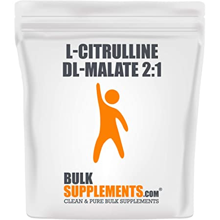 BulkSupplements.com L-Citrulline DL-Malate 2:1 - Citrulline Powder - Citrulline Malate 2 1 - Unflavored Pre Workout - Vegan Pre-Workout (500 Grams - 1.1 lbs)