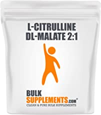 BulkSupplements.com L-Citrulline DL-Malate 2:1 - Citrulline Powder - Citrulline Malate 2 1 - Unflavored Pre Workout - Vegan Preworkout (500 Grams)