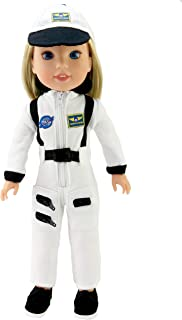 American Fashion World White Astronaut Space Suit Made for 14 inch Dolls Such as Wellie Wishers