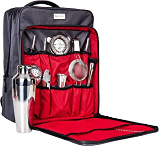 Waterproof Bartender Bag with Bartender kit - Perfect Home Bar Tools Set and Bar Accessories