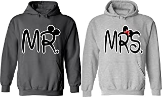 Mr. & Mrs - Matching Couple Hoodies - His and Her Love Sweaters
