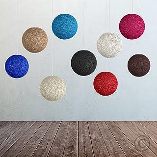 Lampara colgantes de techo forma de esferica casquillo E27 para decoracion de salon multicolor (VERDE)