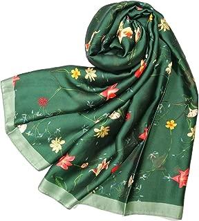 Shanlin Silk Feel Long Satin Scarves for Women