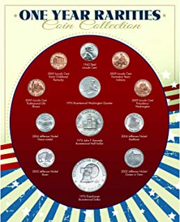 One Year Rarities Coin Collection| Genuine United States Minted Coins | Americana Collectible | Certificate of Authenticit...