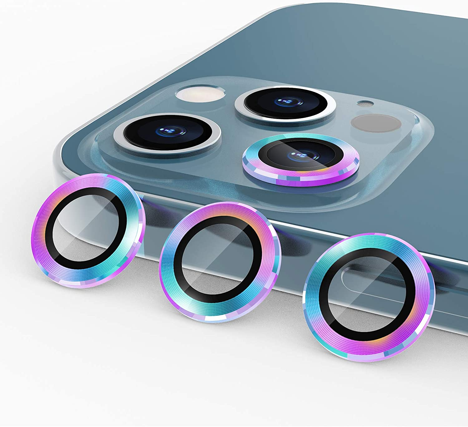 3 Pack Under blast sales imluckies 40% OFF Cheap Sale Colorful Camera Lens iPhone for P 12 Protector