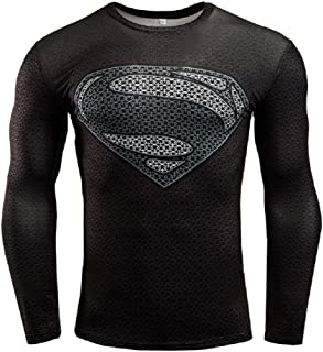 Superhero Shirt Compression Sports Shirt Runing Fitness Gym Short/Long Sleeve Base Layer