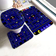 not Retro Arcade Anti-Skid Toilet Mat 3-Piece Set for Bathroom Dressing Table Holiday Home Etc