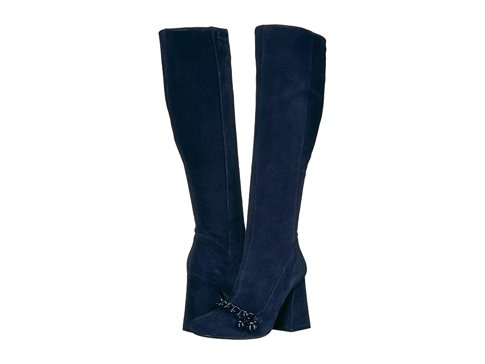 Tory Burch Addison 95mm Boot (Royal Navy) Women