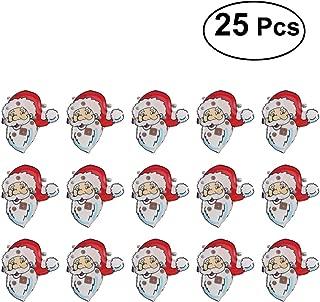 BESTOYARD LED Brooch Christmas Brooch Pin Santa Claus Badge Brooch Children Gift Party Favors 25Pcs