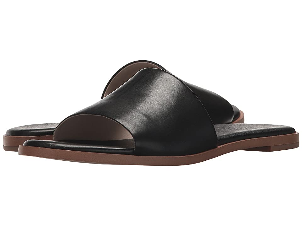 Cole Haan Anica Slide Sandal (Black Leather) Women