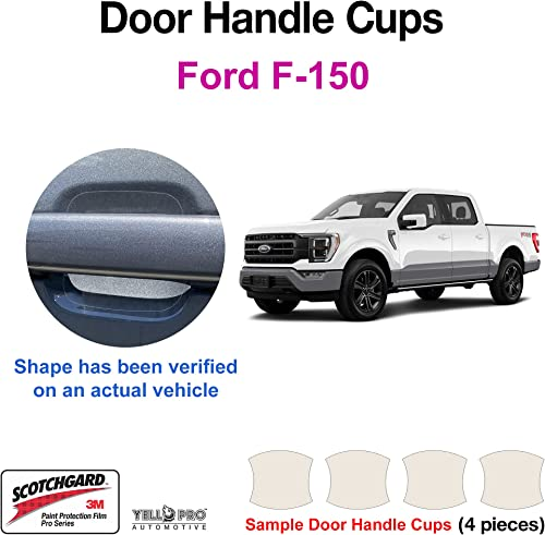 wholesale YelloPro 2021 Custom Fit Door 2021 Handle Cup 3M Scotchgard Anti Scratch Clear Bra Paint Protector Film Cover Self Healing PPF Guard Kit for 2021 2022 Ford F-150 F150 Truck online