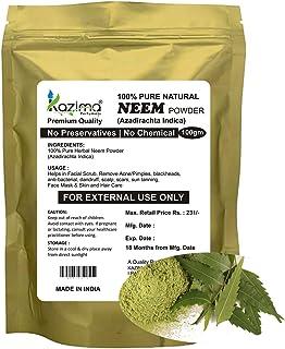 KAZIMA 100% Natural Herbal Neem Powder for Acne/Pimples, Blackheads, Dandruff, Scalp & Scars, 100 g