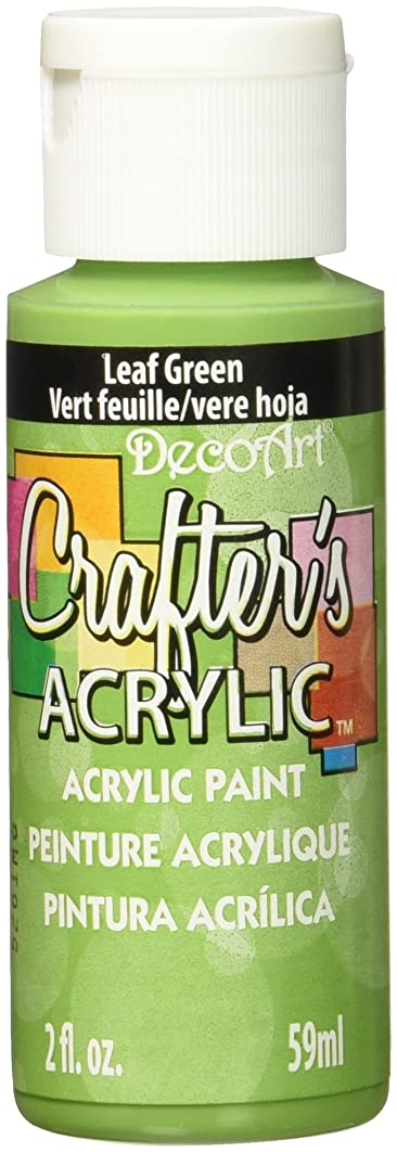 DecoArt Crafter's Acrylic Paint, 2-Ounce, Leaf Green