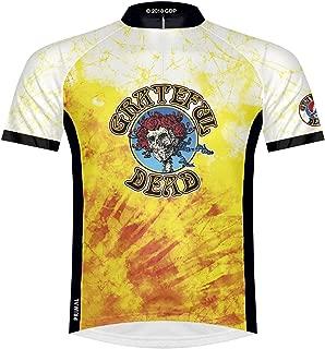 Primal Wear Grateful Dead Bertha Skeleton Tie Dye Cycling Jersey Men's Short Sleeve