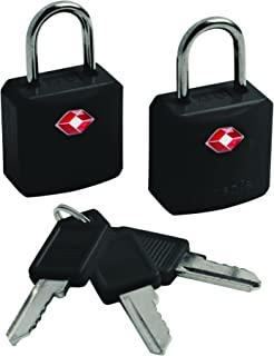 Pacsafe PS10210100 Luggage Lock, Black, Key Lock
