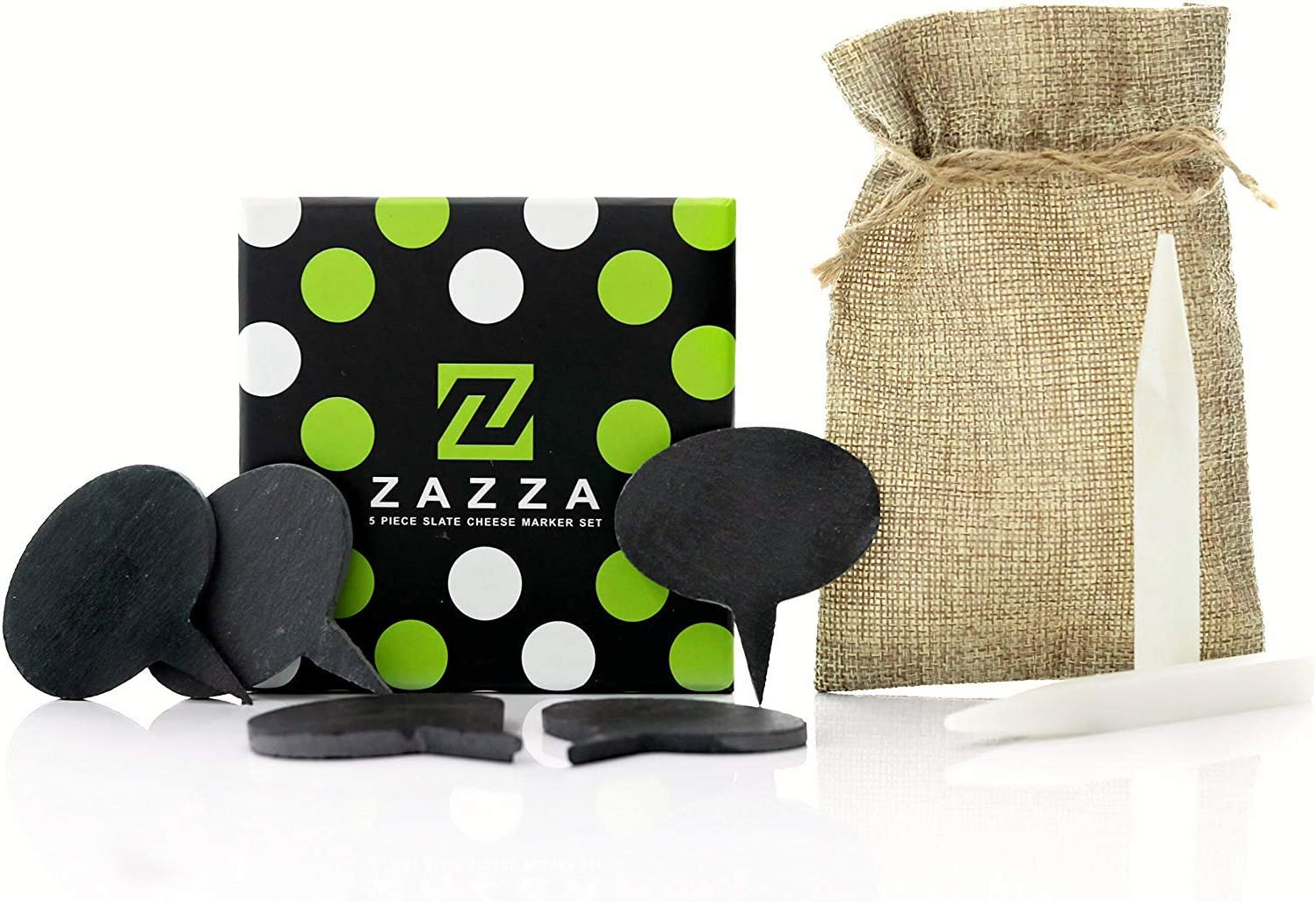 Zazza online shopping Cheese Markers Set Made Slate -5 Natural Labels Manufacturer OFFicial shop of