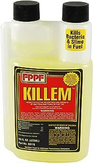 FPPF 00119 KILLEM BIOCIDE 16 OZ. BOTTLE, TREATS 1920 GALLONS OF DIESEL FUEL PER BOTTLE