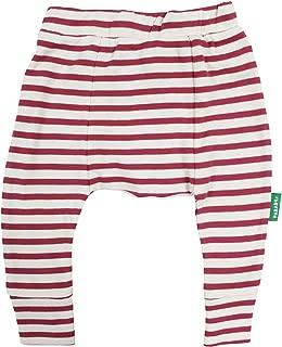 PARADE ORGANICS Harem Pants - Signature Prints Breton Stripe Raspberry 2T
