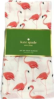 Kate Spade Strut Your Stuff Pink Flamingo Cotton Napkins, Set of Four