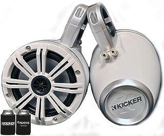 """KICKER White Wake Tower System 6.5"""" Marine Speakers"""