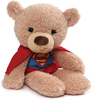 "(Super Girl) - Gund DC Universe Fuzzy Bear Supergirl Plush, 14"" , Tan"
