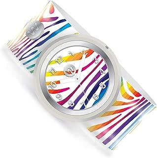 Watchitude Slap Watch, Rainbow Zebra, Collectible, Limited Edition