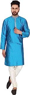 SKAVIJ Men's Kurta Pajama Set Indian Traditional Party Wear Outfit