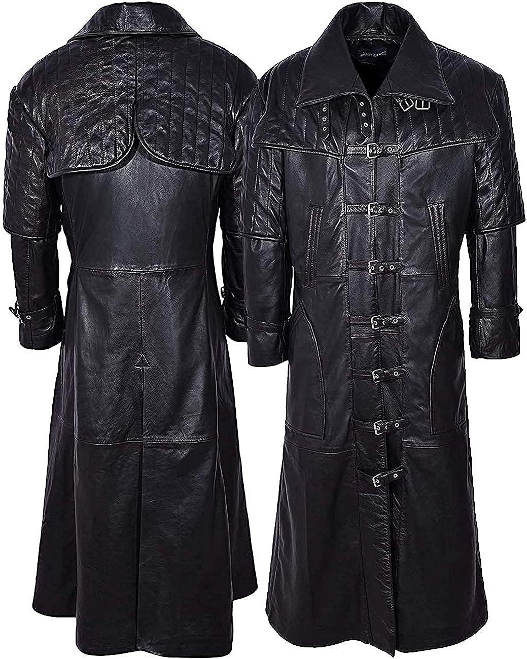 Men's Black Templar 40K Cosplay Genuin Cowhide Superlatite Time sale Van Helsing