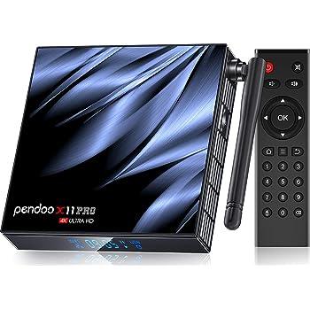 pendoo Android TV Box 10.0 4GB RAM 32GB ROM,[2020 Newest] X11 PRO TV Box Allwinner H616 Quad-Core 64bit with Dual-WiFi 5GHz/2.4GHz BT 4.2, USB 3.0 Ultra HD 6K H.265 Android TV Box