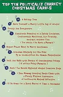 Top Ten Politically Correct Christmas Carols - Funny Holiday Greeting Card