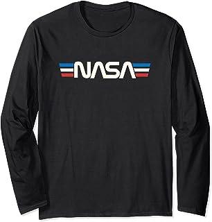 Badge spatial rétro vintage Astronomie NASA Manche Longue